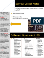 Day 6 - 2016 - WWII - Euro Leaders and Cooperation