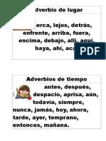 carteles adverbios 4º