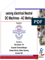 Setting Neutral via AC Curve Method on DC Machines - Flander