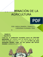 Contaminacion de La Agricultura Completo