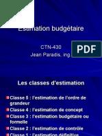 Estimation Budgetaire