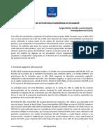 Informe de Coyuntura Económica en Ecuador. Sergio Martín Carrillo y Lucía Converti