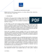 Informe político electoral de Ecuador