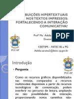Contribuições Hipertextuais Nos Textos Impressos Puc