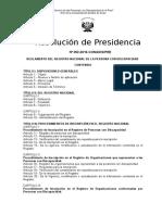 Reglamento Registro 07 07