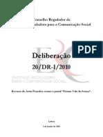 Deliberacao ERC  - Recurso Artur Penedos