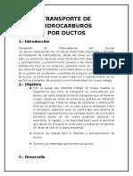 Trasporte de Hidrocarburos Por Ductos