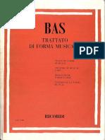 Bas - Trattato Di Forma Musicale