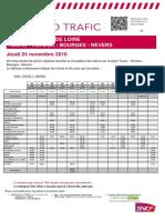 Le trafic Tours-Vierzon-Bourges-Nevers du 24 novembre