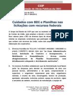 Comunicado 005 - 2012 - BDI Obras Públicas