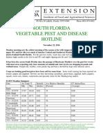 South Florida Vegetable Pest and Disease Hotline - November 22, 2016