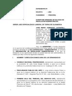 Demanda. Contencioso Administrativo de Nulidad de Resolución de Sanción Disciplionaria