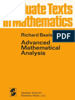 (Graduate Texts in Mathematics 12) Richard Beals (Auth.)-Advanced Mathematical Analysis_ Periodic Functions and Distributions, Complex Analysis, Laplace Transform and Applications-Springer-Verlag New
