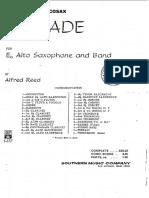 Ballade - Alfred Reed (Sax, Banda e Piano)