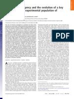 Innovación experimental en poblaciones de Escherichia coli