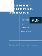 Robert Lekachman Eds. Keynes' General Theory Reports of Three Decades