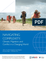 NAVIGATING  COMPLEXITY: Climate, Migration, and  Conflict in a Changing World