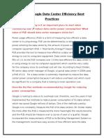 Case2 Google Data Center Efficiency Best Practices