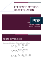 Finite Difference Method for 2 d Heat Equation 2