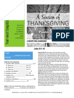 Thanksgiving Leadership John 21-11-15 Handout 112716