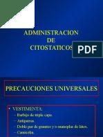 Administracion de Citostaticos