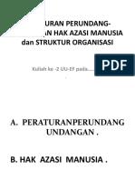 Kuliah UUF Ke-2 Baru HAM, Per-UU & Str.org