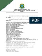 Tre Ba Resolucao Adminstrativa 02 2014 Regimento Interno Do Tribunal