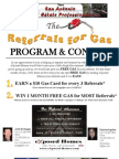 Referrals for Gas Contest Flyer and Form