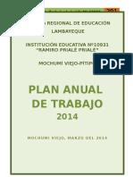 Plan Anual de Trabajo 2014