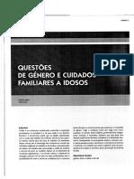 Questões de Género e Cuidados Familiares a Idosos
