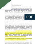 A Agricultura Na Ocupação Do Território Brasileiro