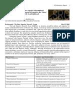 Preliminary Report IMC Lake Superior NMCA (May 15th, 2009)