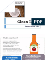 Clean Label Report