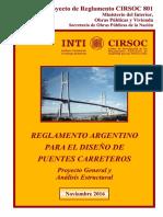CIRSOC 801- 2016_Puentes Carreteros_Proyecto de Reglamento_Proyecto y Analisis