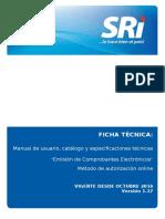FICHA TECNICA COMPROBANTES ELECTRO´NICOS versión online