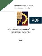 Guía Pasantia Facultad Tecnología UMSA