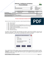 Rotina Personalizada RCFGIMP - Importação ERP