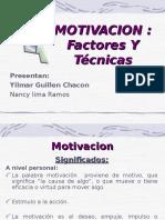 Tecnicas de Motivacion