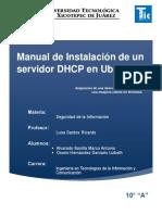 Manual de Instalacion de un Servidor DHCP en Ubuntu