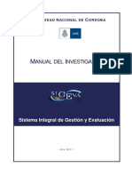 SIGEVA - Manual Banco de Datos