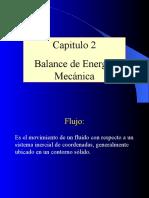 2. Balance de Energía Mecánica