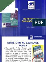 C.7 No Return, No Exchange