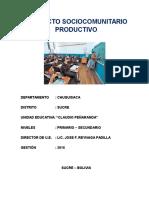 PROYECTO SOCIOCOMUNITARIO PRODUCTIVO