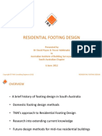Residential Footing Design