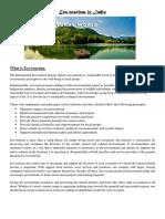 Eco-Tourism in India