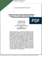 teachers view on technology integration