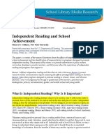 independentreading and school achievement