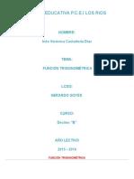 Función Trigonométrica Ines Castañeda