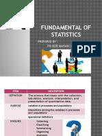 Fundamental of Statistics