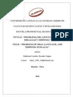 Monografia de Oratria